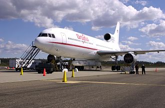 Orbital Sciences Corporation - Lockheed L-1011 TriStar Stargazer with Pegasus Rocket underneath.