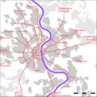 Schienennetz der Stadtbahn Köln