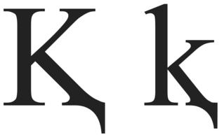 K with descender