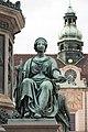 Kaiser Franz-Denkmal Hofburg Wien 2015 Sitzfiguren Friede 2.jpg