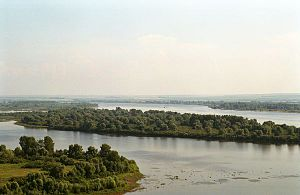 Tatarstan - View on the Taima River from Devil's Tower in Yelabuga