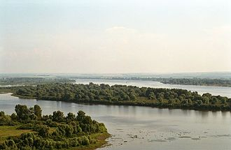 Tatarstan - View on the Taima River from Devil's Tower in Yelabuga.