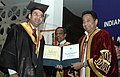 Kamal Nath presenting the Master of Business Administration Degree to Shri Ashish Jain, at the 42nd Convocation of the Indian Institute of Foreign Trade (IIFT), in New Delhi on March 25, 2008.jpg