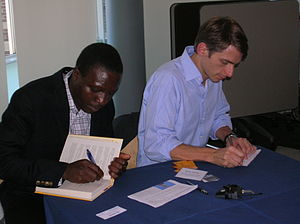 A picture of William Kamkwamba and Bryan Meale...