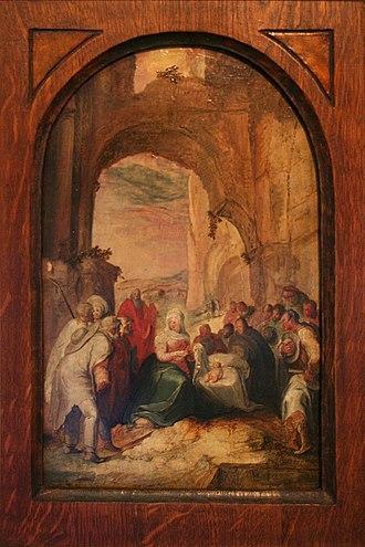 Karel van Mander - The Adoration of the Shepherds, National Gallery in Prague
