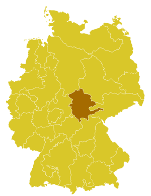Roman Catholic Diocese of Erfurt - Image: Karte Bistum Erfurt