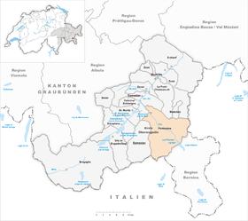 Karte von Pontresina