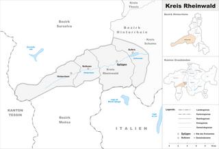 Rheinwald (Kreis) Sub-district in Switzerland