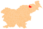 The location of the City Municipality of Maribor