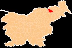 Vị trí của đô thị Maribor ở Slovenia