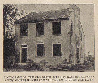 Kaskaskia, Illinois - Kaskaskia state house
