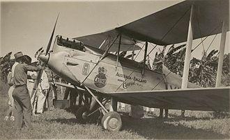C. W. A. Scott - de Havilland DH.60M Moth VH-UQA, flown by C.W.A. Scott from England to Australia, breaking the solo record; at Darwin 28 April 1932