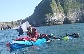 Recreational diving from a canoe or kayak