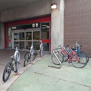 Keele station - Image: Keele TTC entrance bike racks