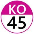 Keio KO45 station number.png