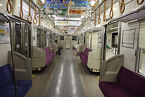 Keisei 3000 series - Image: Keisei 3000 inside