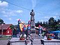 Kermesz Karpackich Smaków 2009 Sanok Mrzyglod 2009 pomnik króla Władysława Jagiełły w Mrzygłodzie (1910).JPG