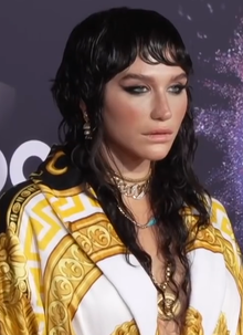 A closeup picture of Kesha in 2019.