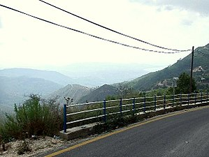 Kessab - Baghjaghaz mountain-pass and the heights of Mount Sildran