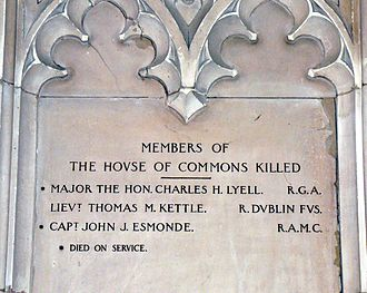 Charles Henry Lyell - House of Commons commemoration of Lyell
