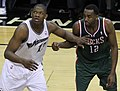 Kevin Seraphin and Luc Richard Mbah a Moute.jpg