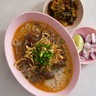 Islam in Thailand - Khao soi at a Chin Haw restaurant in Chiang Mai
