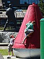 Kids at Play with Mariner Statue in Waterfront Park - Prince Rupert - British Columbia - Canada.jpg
