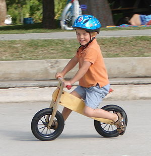 Dandy horse - The modern balance bike borrows from the dandy horse.