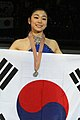 Kim 2010 Worlds medal ceremony.jpg