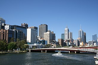 King Street Bridge (Melbourne) - Image: King Street Bridge Melbourne