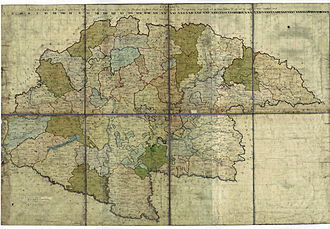 Kingdom of Hungary (1526–1867) - Kingdom of Hungary on the Josephinische Landesaufnahme Original Map 1782-1785