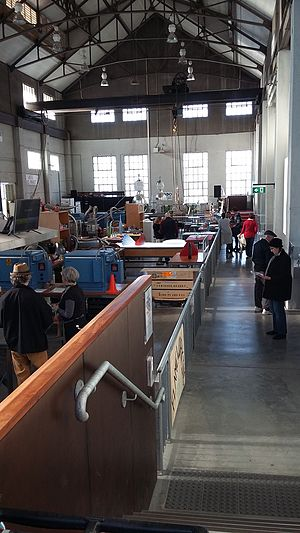Kingston Powerhouse - Interior now used as a glass works in June 2015