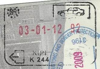 Kipoi, Evros - Passport stamp from the border crossing with Turkey