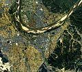 Kizugawa city center area Aerial photograph.1985.jpg
