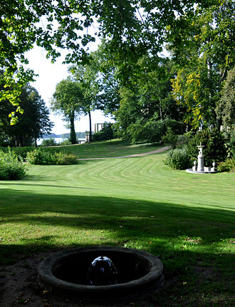 Park Glienicke - Pleasure ground, view from Lenné Hill towards Jungfernsee(River Havel)