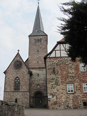 Schlüchtern - Former Schlüchtern Abbey, west façade