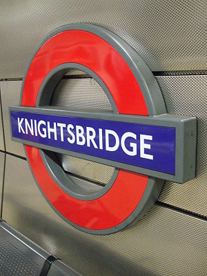 Knightsbridge tube station - Image: Knightsbridge station roundel
