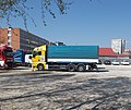 Knorr-Bremse trucks, Major street, 2018 Újbuda.jpg