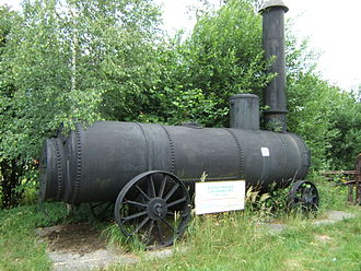 Boiler - A portable boiler (preserved, Historic Silver Mine in Tarnowskie Góry Poland).