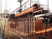 batterie de chambres de distillation cokerie hansa mise