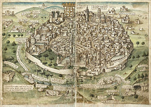 History of Jerusalem during the Middle Ages - View of Jerusalem (Conrad Grünenberg, 1487)