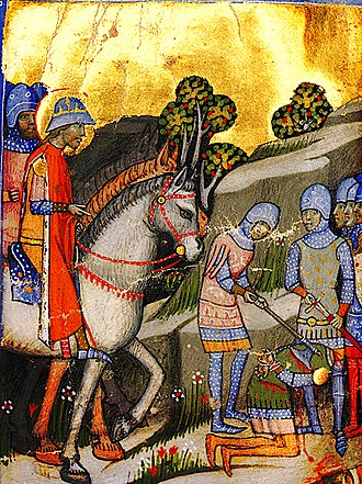 Koppány - Execution of Koppány as depicted in the Illuminated Chronicle