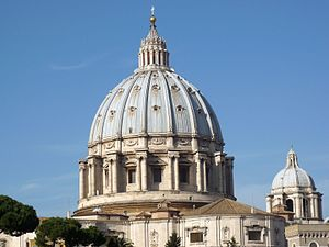 Dome -  The dome of St. Peter's Basilica in Rome