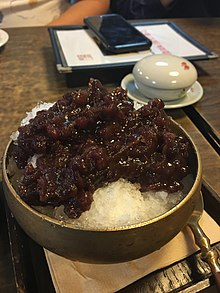 Korean shaved-ice Patbingsu A01.jpg