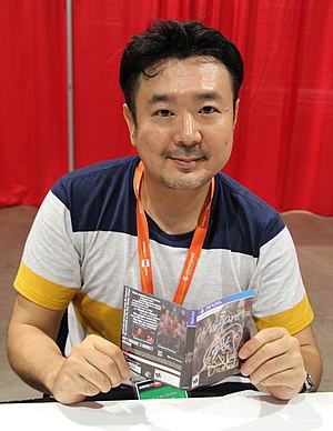 Ever 17: The Out of Infinity - Image: Kotaro Uchikoshi at Anime Expo 2016, cropped