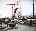 Krátký, F. - Petrohrad - V přístavu petrohradském (1896).jpg