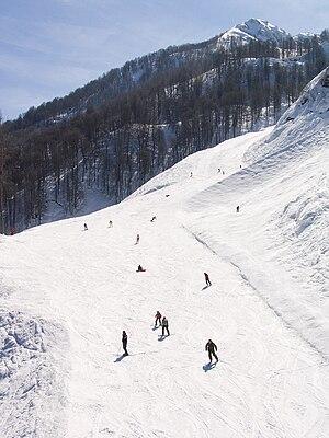 Krasnaya Polyana, Sochi, Krasnodar Krai - Ski slope in Krasnaya Polyana
