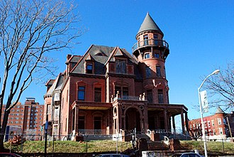 Newark, New Jersey - The Krueger-Scott Mansion, owned by African-American beauty entrepreneur Louise Scott, Newark's first female millionaire