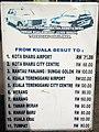 Kuala Besut jetty taxi fares, June 2018.jpg
