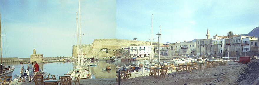Kyrenia Harbour in 1967 Kyrenia Harbour 1967.jpg
